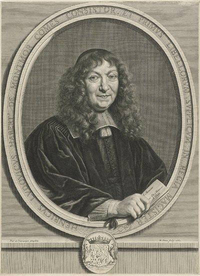 Portret van Henri Louis Habert de Montmor
