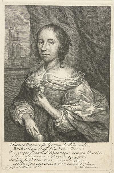 Portret van Anna Maria van Schurman