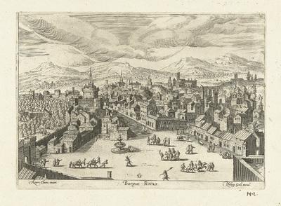 Gezicht op Rome; Burgus Romae; Ruinarum varii prospectus