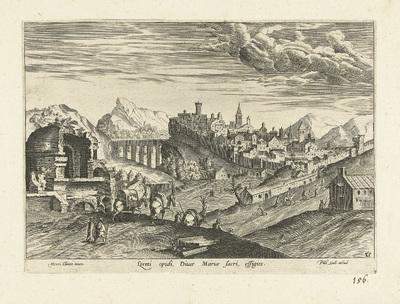 Gezicht op Loreto; Loreti opidi Divae Mariae sacri effigies; Ruinarum varii prospectus