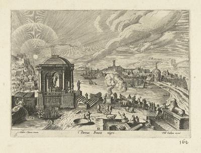 Gezicht op een onbekende haven aan de Zwarte Zee; Portus Pontis nigri; Ruinarum varii prospectus