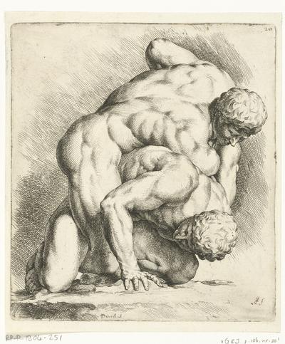 Twee worstelende mannen; Signorum Veterum Icones I