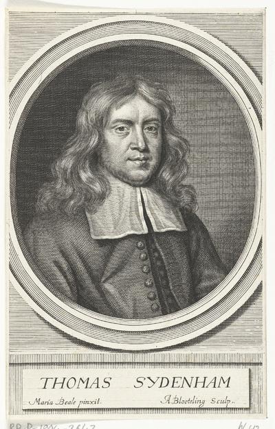 Portret van de Engelse arts Thomas Sydenham; Thomas Sydenham