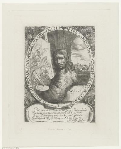 Zelfportret van Pieter van der Hulst