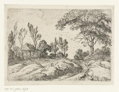 Grote boom langs een weg; Kleine landschappen