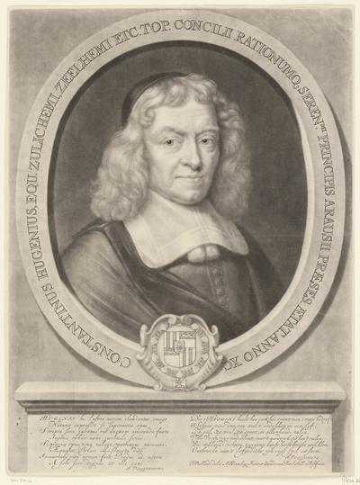 Portret van Constantijn Huygens