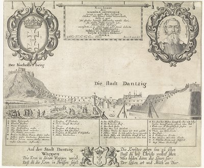 Kabelbaan in Danzig; Novi inventi sive machinae artificiosae, terram (...) transvehentis