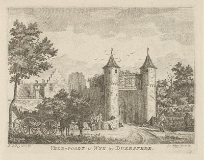 Gezicht op de stadspoort van Wijk bij Duurstede; Veld-poort te Wyk by Duerstede