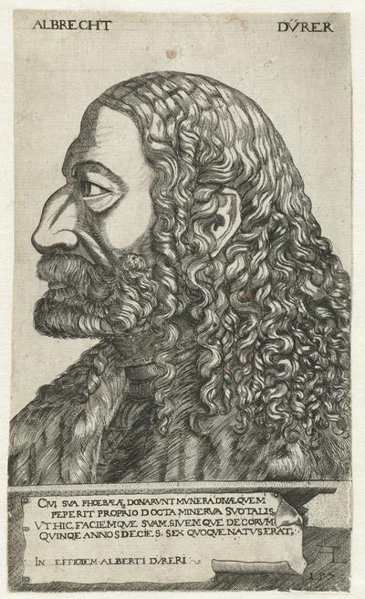Portret van Albrecht Dürer; Albrecht Dürer