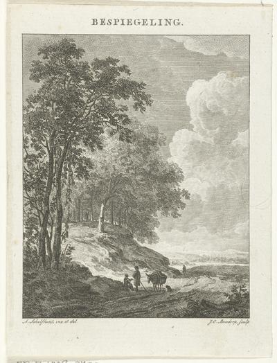 Landschap met figuren; Bespiegeling