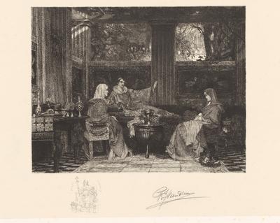Venantius Fortunatus met de heilige Radegund van Thüringen