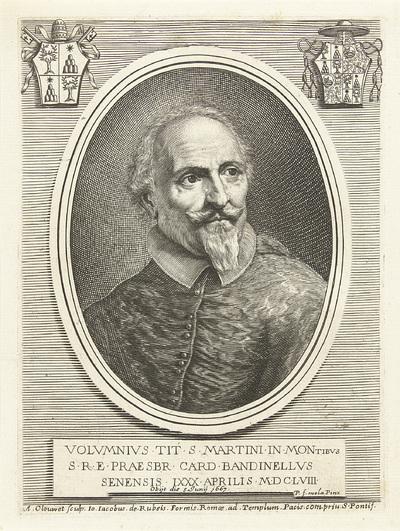 Portret van kardinaal Volumnio Bandinelli; Effigies Cardinalium nunc viventium
