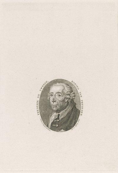 Portret van koning Frederik II de Grote van Pruisen