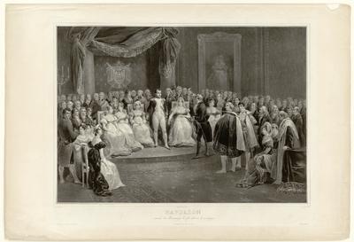 Napoleon en zijn hof. V. Adam p.