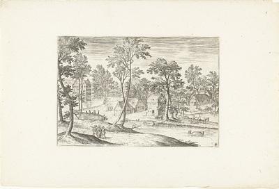 Landschap met de Emmaüsgangers; Landschappen rond Antwerpen
