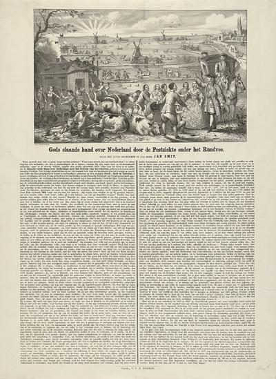 Boeren getroffen door runderpest, 1866-1867; Gods slaande hand over Nederland door de Pestziekte onder het Rundvee
