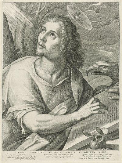De evangelist Johannes; Ioannes Apostolvs Propheta Martyr Evangelista Virgo.; Vier evangelisten