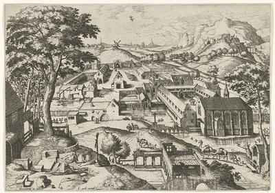 Landschap met de heilige Hieronymus; hieronimus in deserto; Landschappen met christelijke verhalen