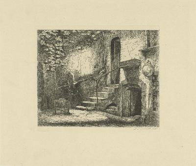 Binnenplaats met trap