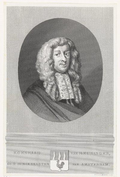 Portret van Koenraad van Beuningen; Koenraad van Beuningen, oud burgemeester van Amsterdam
