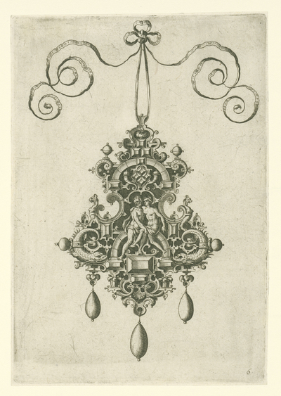 Hanger met liefdespaar; Monilium bullarum inauriumque … icones