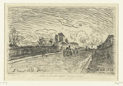 Uitgang van ziekenhuis Cochin (Faubourg Saint-Jacques, Parijs); Sortie de la Maison Cochin (Faubourg Saint-Jacques)