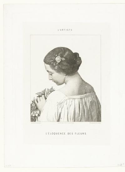 Vrouw met bloemen; L'Eloquence des Fleurs
