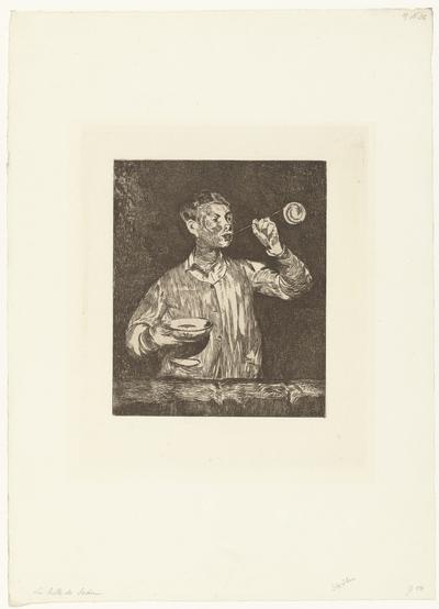 Léon Leenhoff blaast zeepbellen; Jongen blaast bellen; L'enfant aux bulles de savon