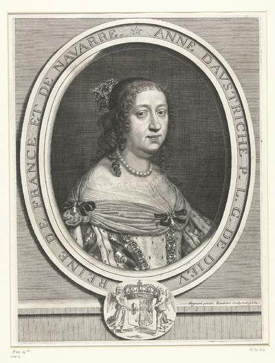 Portret van Anna van Oostenrijk; Anne d Autriche P.L.G. de Dieu Reine de France et de Navarre