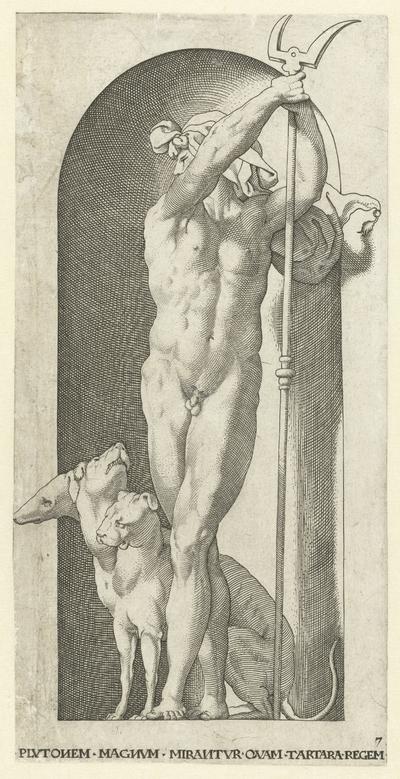 Pluto met tweetand en Cerberus; Goden en Godinnen