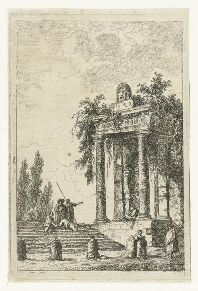 Trap met de vier grenspalen; Les Soireés de Rome; Romeinse gezichten