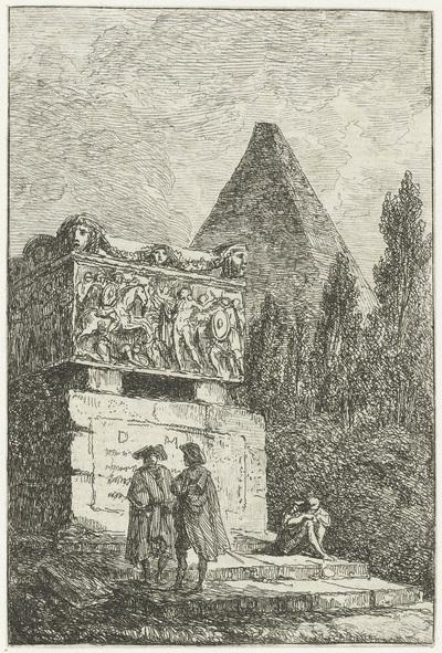 Sarcofaag; Les Soireés de Rome; Romeinse gezichten