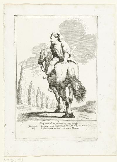 Cacasseno achterstevoren te paard; Historie van Bertoldo, Bertoldino en Cacasenno
