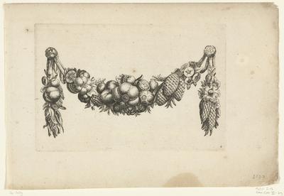 Festoen van fruit met dennenappels; Verscheide Nieuwe Festonnen