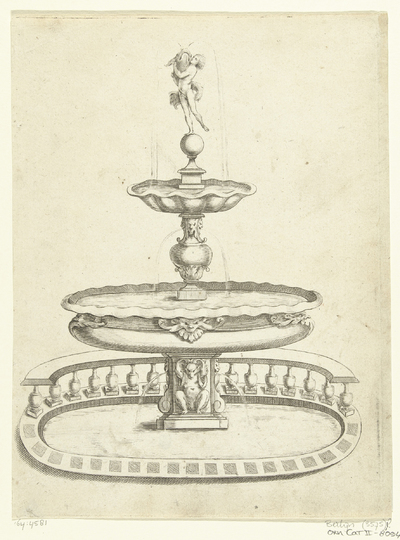 Image from object titled Fontein met twee waterbassins; Fontaines Et Iets D'Eau (...)