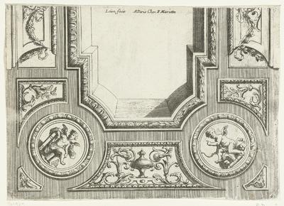 Helft van rechthoekig plafond; Plafonds à la moderne