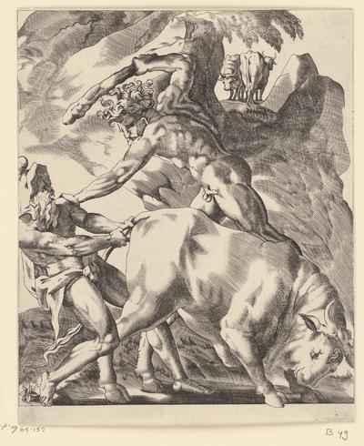 Hercules vecht met Cacus; Scènes met Hercules