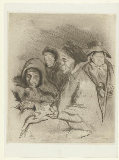 Vier oude vrouwen; Portraits de vieilles femmes; L'Epreuve