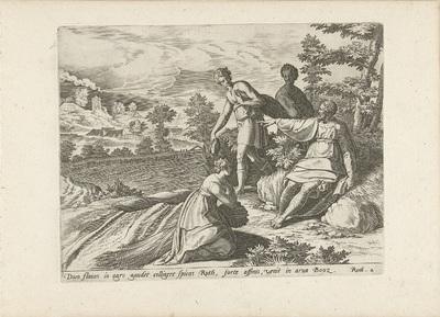 Ruth knielt voor Boaz; Geschiedenis van Ruth en Boaz