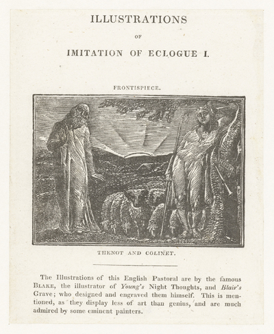 Thenot en Colinet; Illustrations of imitation of Eclogue I