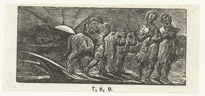 Jongen met twee ossen en een ploeg; Boy returning joyfully with plough and oxen; Illustrations of imitation of Eclogue I