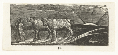 Terugkeer van de herdersjongen; Return of the shepherd; Illustrations of imitation of Eclogue I