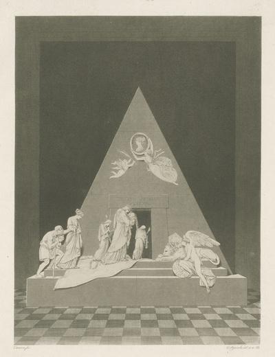 Grafmonument van Maria Christina, aartshertogin van Oostenrijk, Augustinerkirche, Wenen (1805) gemaakt door Canova