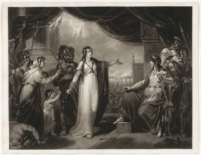 Timoclea voor Alexander; Timoclea brought before Alexander