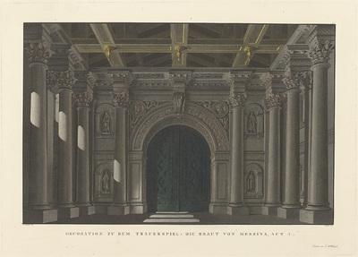 Decor voor Die Braut von Messina. Treurspel van Friedrich Schiller.; Decorationen auf den beiden Königlichen Theatern in Berlin
