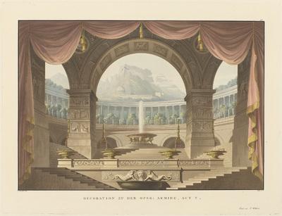 Decor voor Armida, een opera van Willibald von Gluck; Decorationen auf den beiden Königlichen Theatern in Berlin