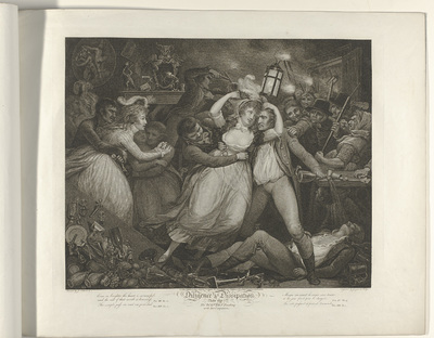 Plate 7. The Wanton revelling with her companions; Diligence an Dissipation