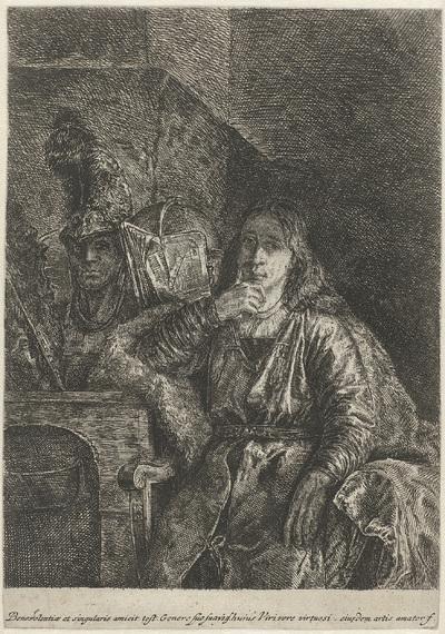 Portret van Johann Ulrich Mayr