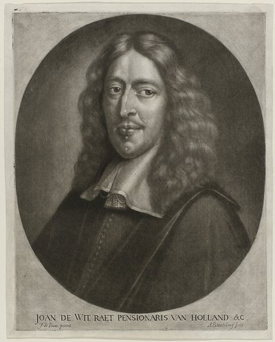 Portret Johan de Witt; Joan de Wit Raet Pensionaris van Holland & C