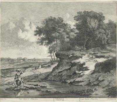 Landschap buiten Haarlem; Vuë hors d' Haarlem / Gezigt buiten Haarlem